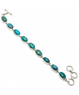 925 Sterling silver bracelet of Cabochon Stone Tibetan Turquoise