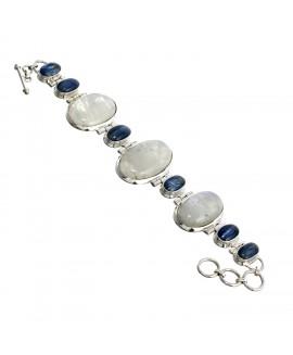 925 Sterling silver Iolite & Rainbow Moonstone Bracelet