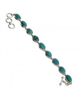 925 Sterling silver Cabochon Turquoise Bracelet