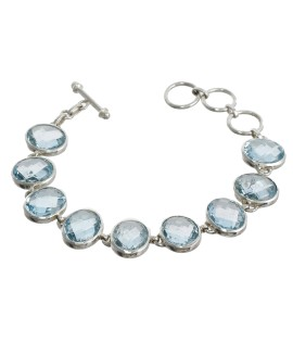 925 Sterling silver Blue Topaz Bracelet