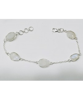 925 Sterling silver Rainbow Moonstone Bracelet