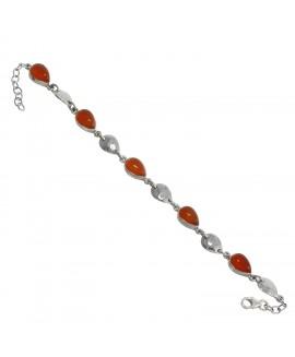 925 Sterling silver Cornelian Bracelet