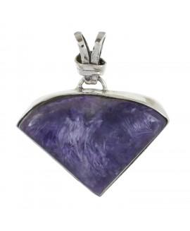 925 Sterling silver Cabochon Stone Charoite Pendant