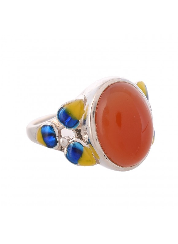 925 Sterling silver Cabochon Carnelian Rings