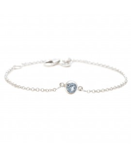 925 Sterling silver Cut Stone Blue Topaz Bracelet