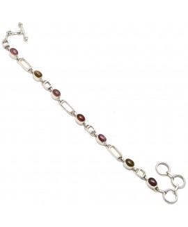 925 Sterling silver Cut Stone Tourmaline Bracelet