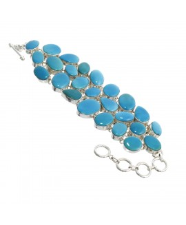 925 Sterling silver Bracelet with Arizona Turquoise