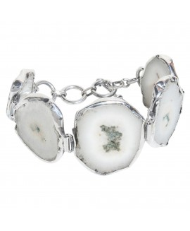 925 Sterling silver Solar Quartz Bracelet