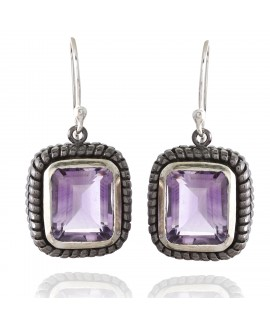 925 Sterling silver Amethyst Earrings
