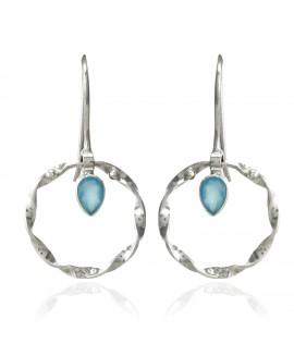 925 Sterling silver Blue Chalcy Earrings