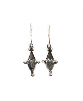 925 Sterling silver Black Rutile Earrings