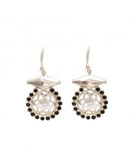 925 Sterling silver Black Spinel Earrings
