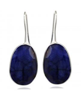 925 Sterling silver Blue Silimanite Earrings