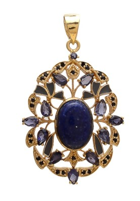 925 Sterling silver Lapis & Iolite Pendant