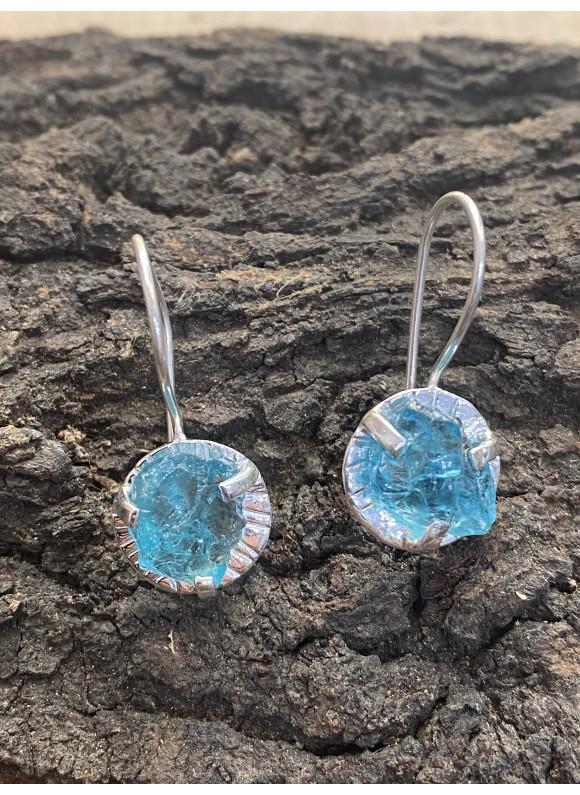 gemstone Apatite 925 sterling silver earrings