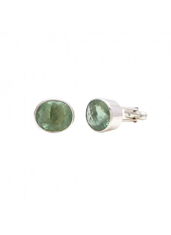 925 Sterling silver Cufflinks with Florite Cut Stone