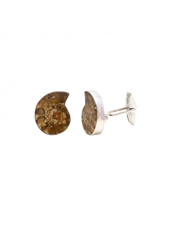 925 Sterling silver Cufflinks with Amonite