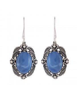 925 Sterling silver Blue Opaliite Earrings