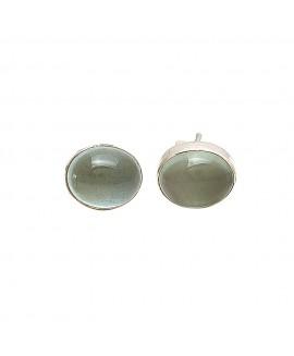 925 Sterling silver Aquamarine Earrings Stud