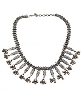 925 Sterling silver Necklace with Black Polish