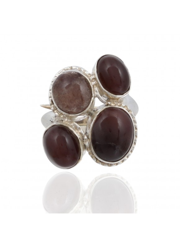925 Sterling Cabochon silver Cat Eye Rings