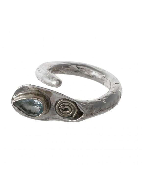 925 Sterling silver Blue topaz Rings