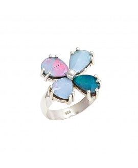 925 Sterling silver Cabachon Opal Rings