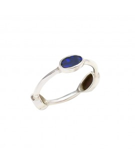 925 Sterling silver Cabochon 3 Piece Opal Rings