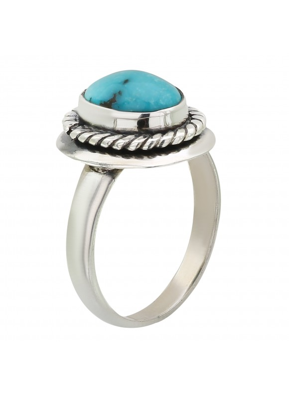 925 Sterling silver Cabochon Turquoise Rings
