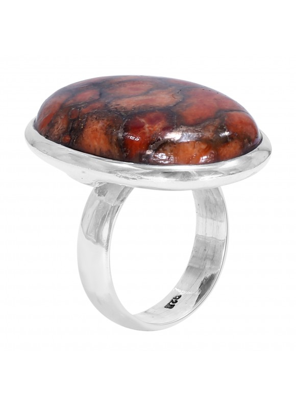 925 Sterling silver Cabochon Recontructed copper Turquoiase  Rings
