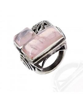 925 Sterling silver Cabachon Rose Quartz Rings